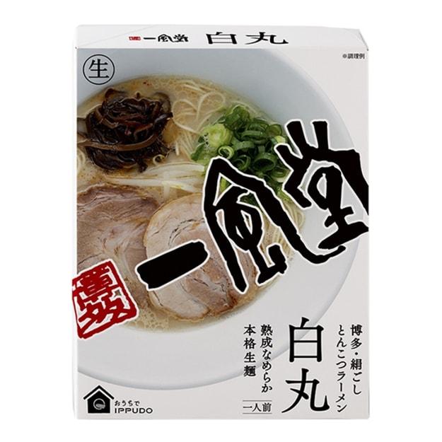 商品详情 - 【日本直邮】DHL直邮3-5天到 日本博多一风堂IPPUDO 拉面煮面版 白丸 秘制猪骨面 220g - image  0