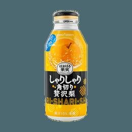 日本POKKA SAPPORO 果肉新食感! 果汁20%添加 梨子果肉饮料 396ml