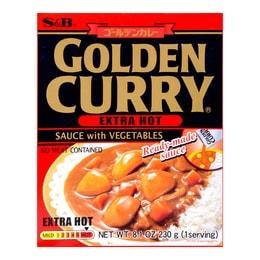 日本S&B 金牌微波即食蔬菜咖喱料理包 超辣 230g