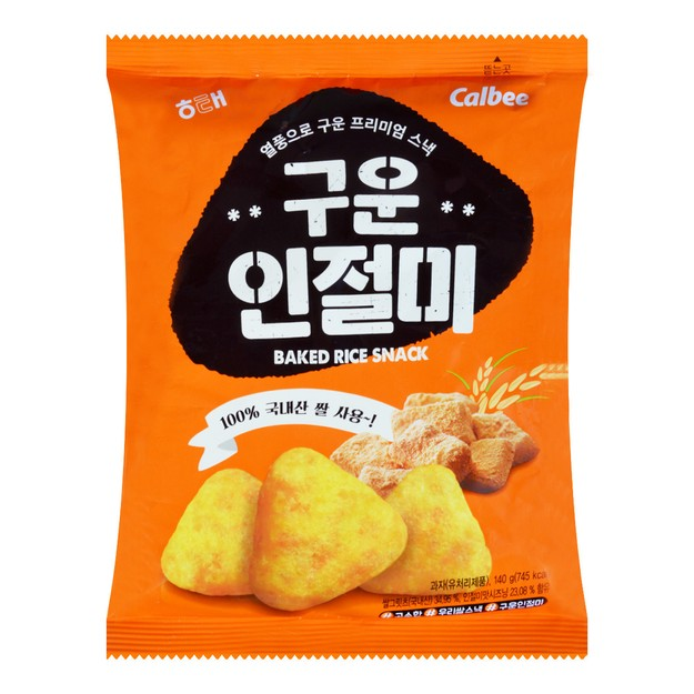 商品详情 - 韩国HAITAI海太 X CALBEE卡乐B 彭化烤黄豆年糕 大包 140g   - image  0