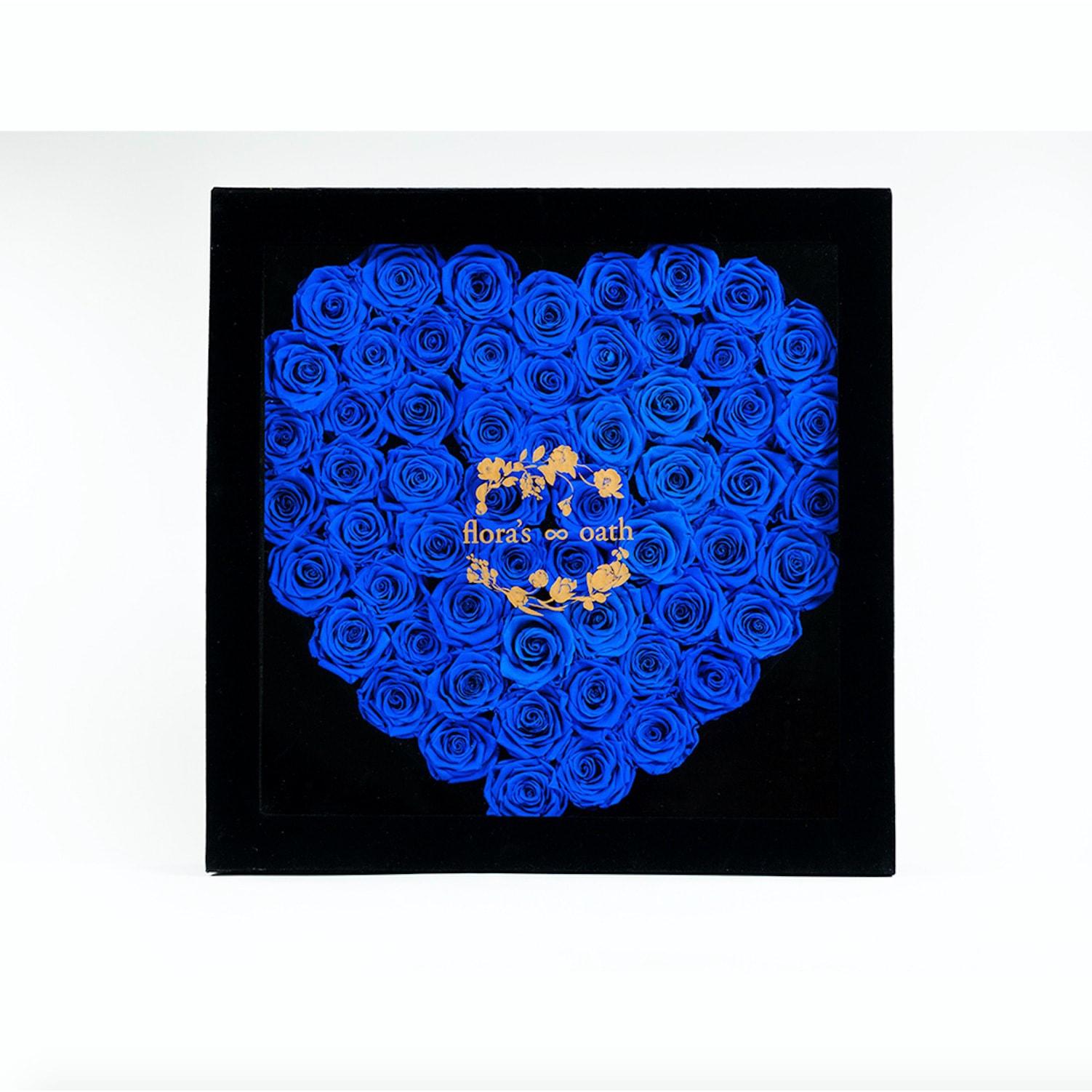 芙罗拉之誓 永生花心形玫瑰组合 倾慕系列-深远 黑色礼盒装 怎么样 - 亚米网