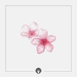 @BECOME Original Tattoo Stickers Cherry blossoms Three Piece