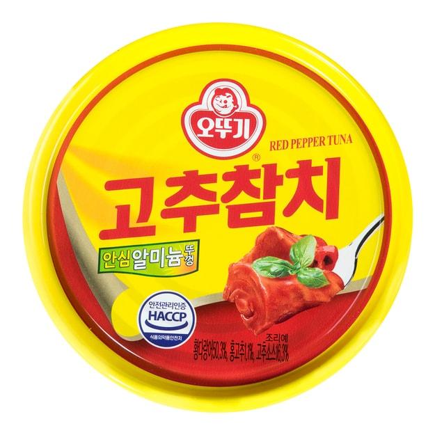 商品详情 - 韩国OTTOGI不倒翁 金枪鱼罐头 香辣味 150g - image  0