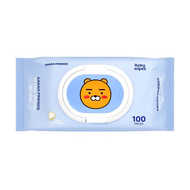 Product Detail - Korea KAKAO Friends Water Cleaning Baby Wipes 100pcs - image 0