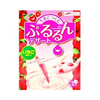 日本MARUHA NICHIRO 草莓果肉布丁牛奶优格 3人份
