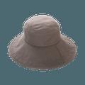 COGIT||大帽檐防晒简约舒适遮阳帽||灰色 1个