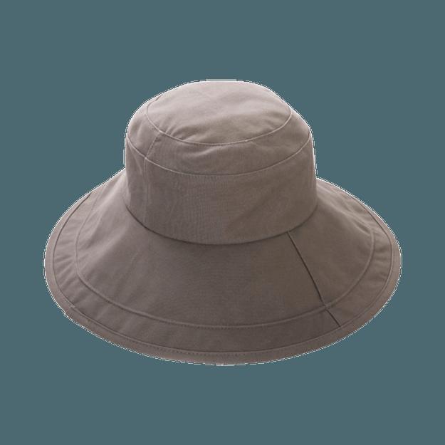 商品详情 - COGIT||大帽檐防晒简约舒适遮阳帽||灰色 1个 - image  0
