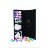美国芙罗拉之誓 鲜花七彩玫瑰 无悔系列 奇迹 24枝黑色礼盒装
