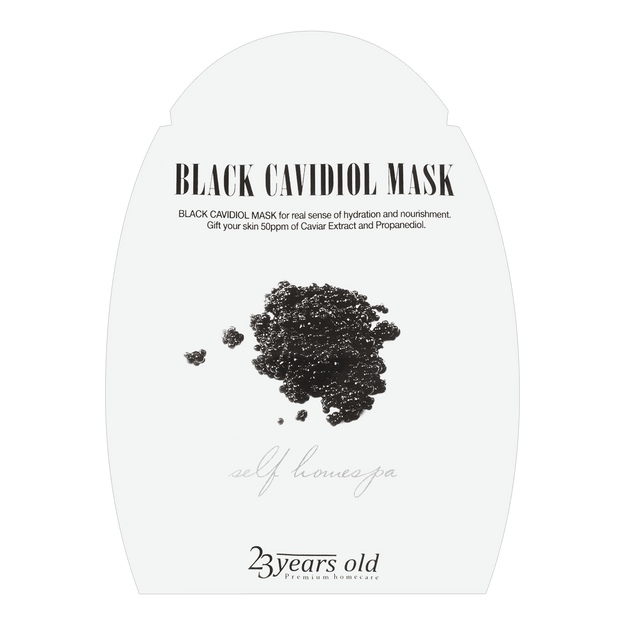 23 YEARS OLD Black Cavidiol Mask 1 sheet