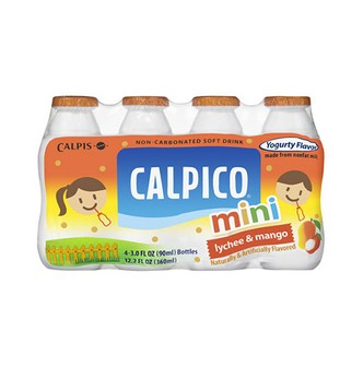 CALPICO Non-Carbonated Mini Soft Drink 4Packs -Mango & Lychee Flavor