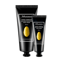JM SOLUTION Water Luminous Golden Cocoon Hand Cream Black 50ml+100ml