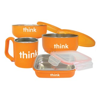 THINKBABY The Complete BPA Free Feeding 4pcs Set #Orange