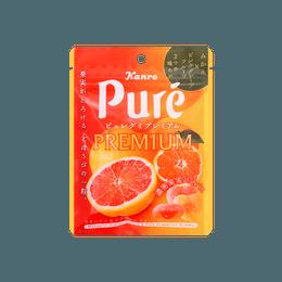 【Premium系列】日本KANRO PURE 心型果汁胶原蛋白软糖 西柚口味 54g