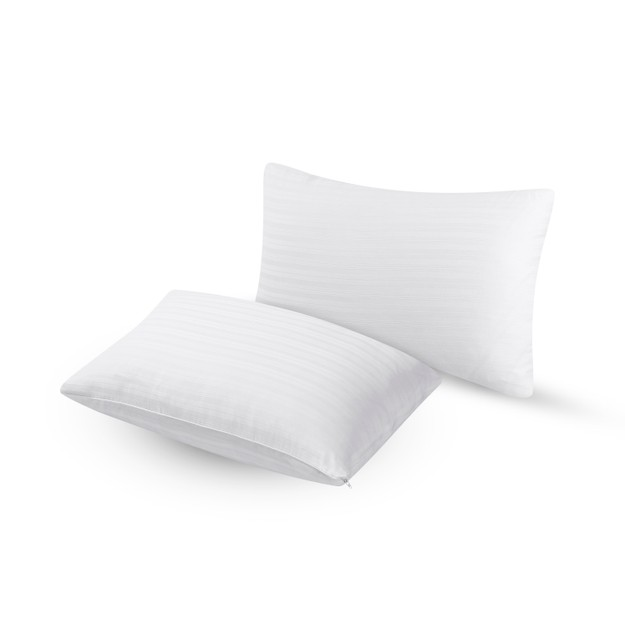 商品详情 - Premium Down 纯色酒店全棉枕头套 一对装 Standard/Queen - image  0