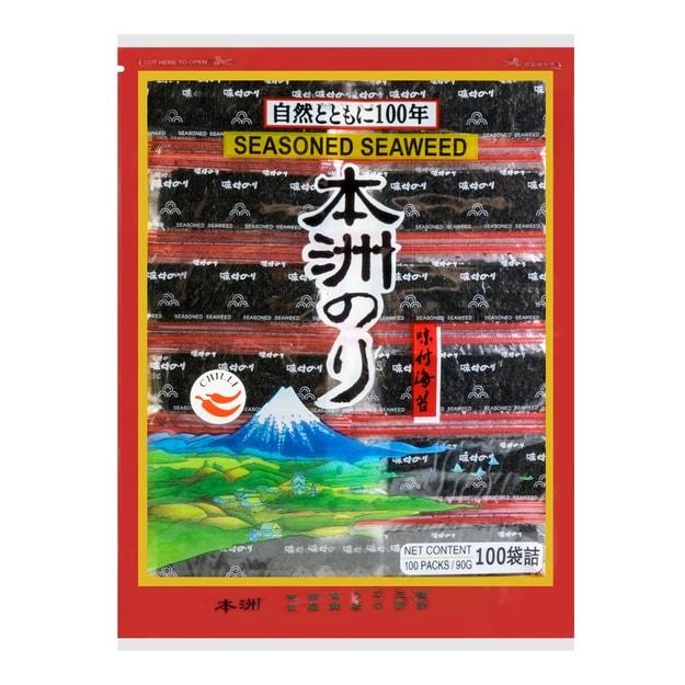 商品详情 - 日本本洲 味付海苔 香辣味 90g - image  0