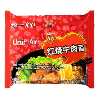 台湾统一 满意100 红烧牛肉面 108g