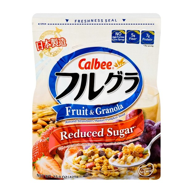 商品详情 - 日本CALBEE卡乐比 营养水果谷物麦片 低糖 425g 即食冲饮代餐 - image  0