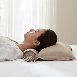 【美仓发货 5-7日达】 网易严选 升级款 3D分区+颈椎苦荞枕 卡其色 组合枕
