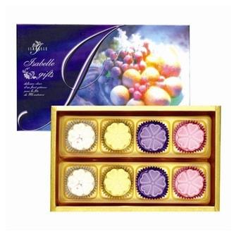 台湾ISABELLE伊莎贝尔 月之晶莹 鲜果月饼 礼盒装 8枚入