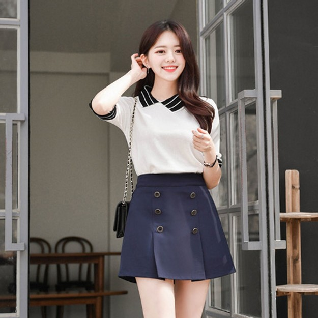 Product Detail - ATTRANGS Culottes Navy free - image 0