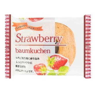 日本ATOM 经典迷你年轮蛋糕 草莓味 80g