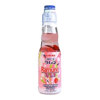 日本KIMURA元祖 弹珠汽水 草莓味 200ml