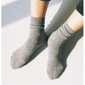 CHERRYKOKO New Korean Women Autumn Simple knitted Socks lightgray free size
