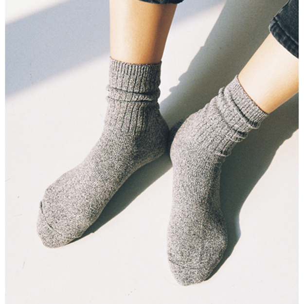 Product Detail - CHERRYKOKO New Korean Women Autumn Simple knitted Socks lightgray free size - image 0