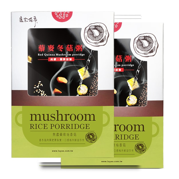 Product Detail - [Taiwan Direct Mail] LUYAO Red Quinoa Mushroom Porridge 2 Cases Combo*Vegan/Specialty* - image 0