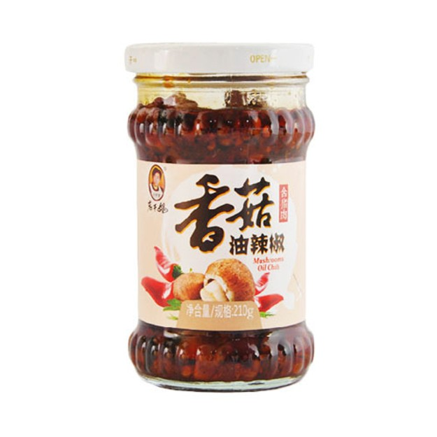 Product Detail - LAOGANMA Oil Chili Condiment with Mushroom 210g - image 0