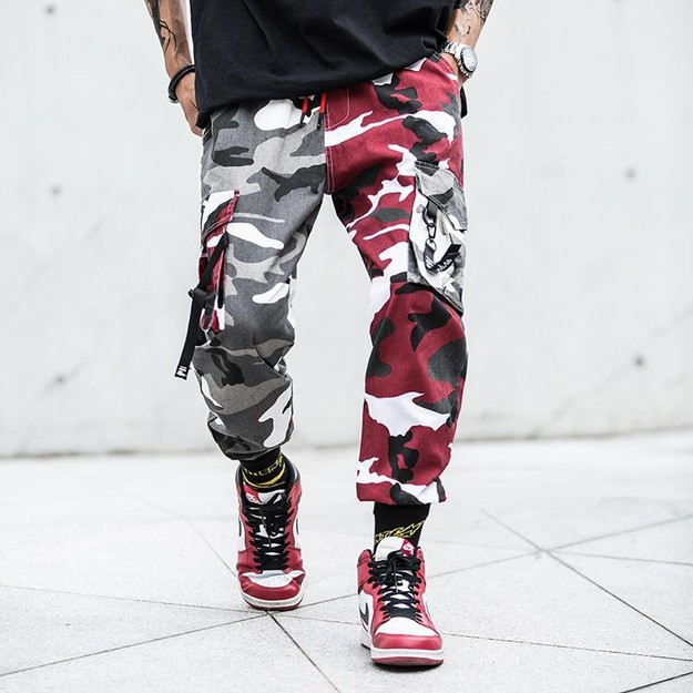 Product Detail - NIEPCE Double Color Camo Jogger Pants Grey Camouflage XL 1 Piece - image 0