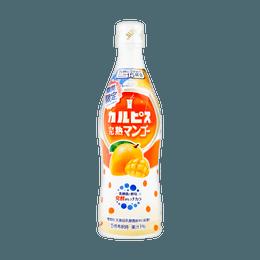 日本ASAHI 可尔必思Calpis 芒果乳酸菌饮料 5倍浓缩 15份入 可兑气泡水冲调 480ml