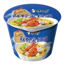康师傅 鲜虾鱼板桶面 方便面 101g