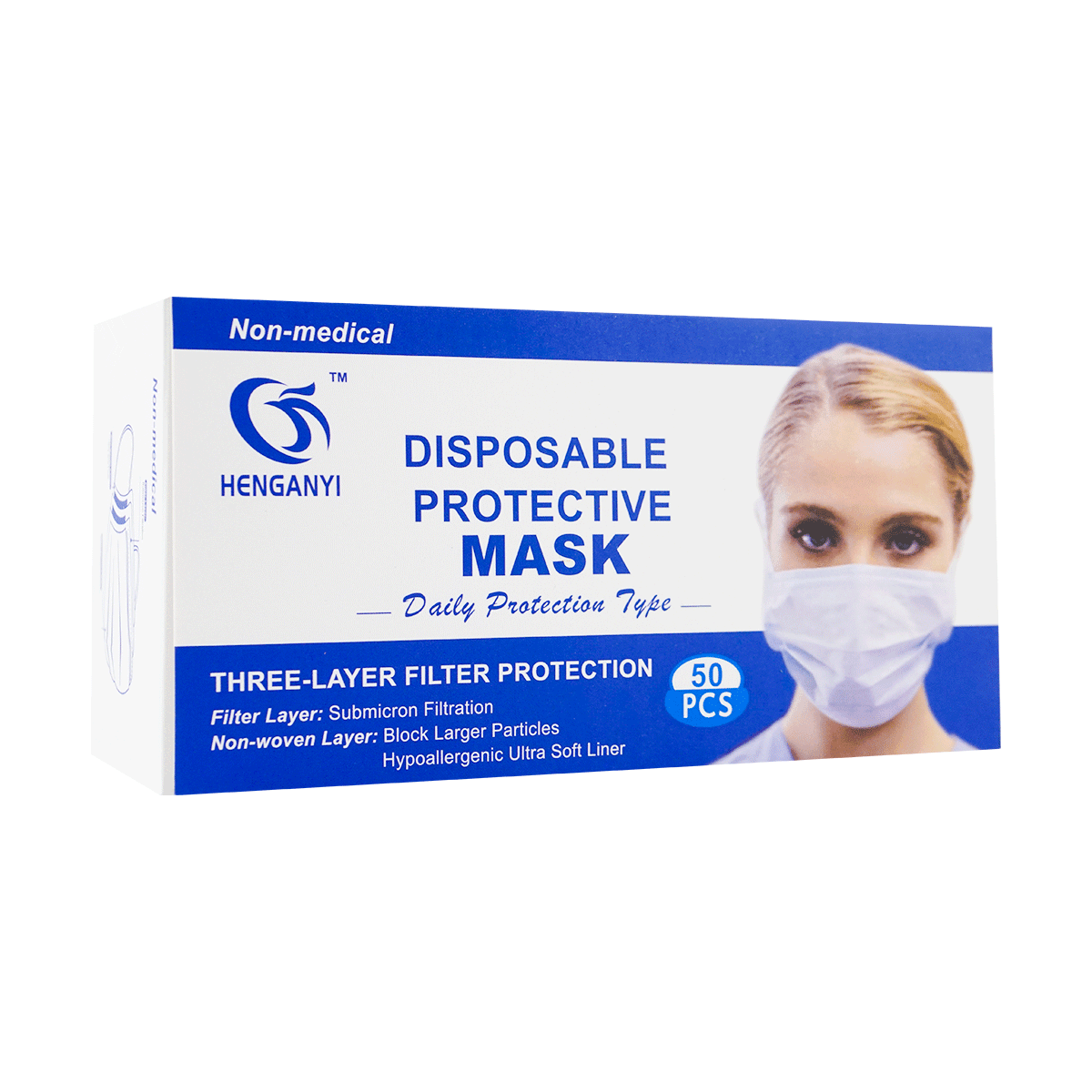 Yamibuy.com:Customer reviews:[Buy 1 Get 1 Free for Limited Time] HENGANYI 3-Layer Filter Protection Disposable Protective Mask 50pcs