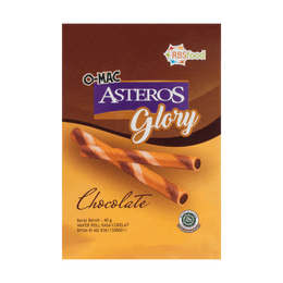 Malaysia O-mac Asteros Roll Heart Cake Chocolate Flavor 40g