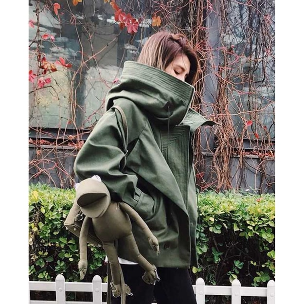 Product Detail - PRINSTORY 2019 Fall/Winter Chic Oversize Boy-friend Style Coat L - image 0