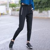 暴走的萝莉 运动休闲长裤含兜女春新款 速干健身训练跑步瑜伽卫裤/忍者黑#/S