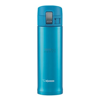 ZOJIRUSHI One Touch Stainless Steel Vacuum Thermal Bottle Marine Blue 340ml SM-PB34AM