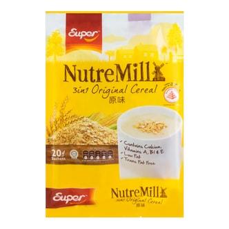 新加坡SUPER超级 三合一营养麦片 原味 20包入 600g
