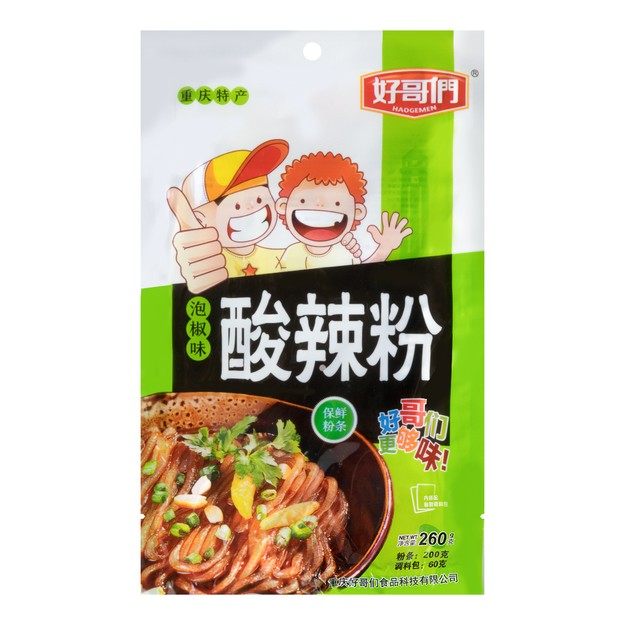 Product Detail - HAOGEMEN Chongqing Style Potato Starch Vermicelli Pickled Chili Flavor 260g - image 0