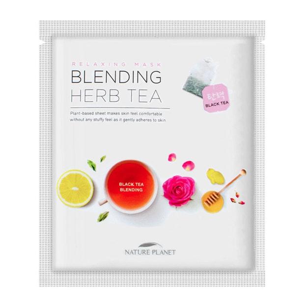 Product Detail - NATUREPLANET Blending Herb Tea Black Tea Mask 1 Sheet - image 0