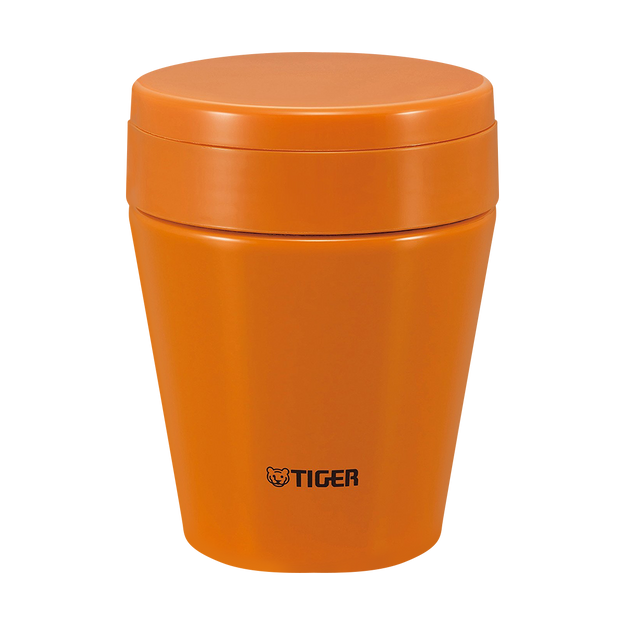 TIGER Stainless Steel Thermal Vacuum Insulated Food Jar Soup Cup Carrot Orange 300ml MCC-C030DC