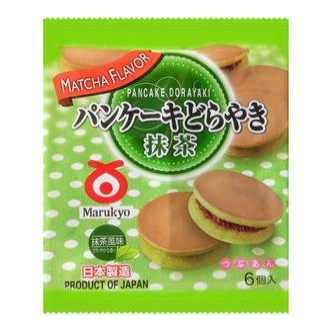 日本丸京果子庵 松饼新味觉铜锣烧 抹茶风味 6枚入 310g