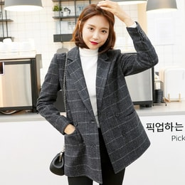 WINGS Mixed Check Jacket #Black S(36)