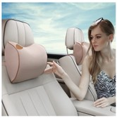 LORDUPHOLD Car Headrest Memory Foam Seat Head Neck Pillow Auto Seat Massage Cushion Cover Car Styling Coffee 1 pcs