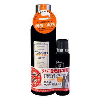 [限时优惠] 日本PROPOLINSE比那氏 劲涼薄荷香蜂胶复合漱口水 600ml+100ml  黑色限量