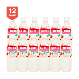 【Value Set】CALPICO Lychee Naturally Artificially Flavored Non Carbonated Soft Drink 500ml * 12