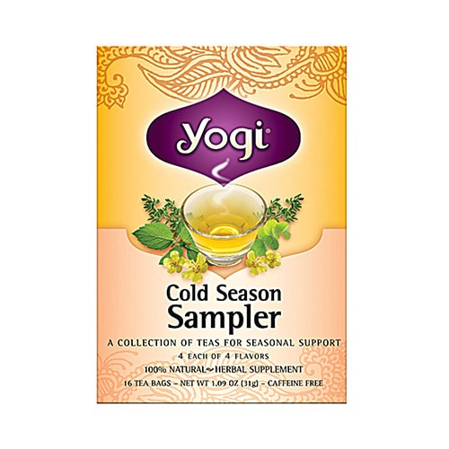 Amazon. Com: yogi cold season tea sampler caffeine free 16 tea.