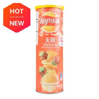百事LAY'S乐事 薯片 嗞嗞烤肉味 桶装 104g