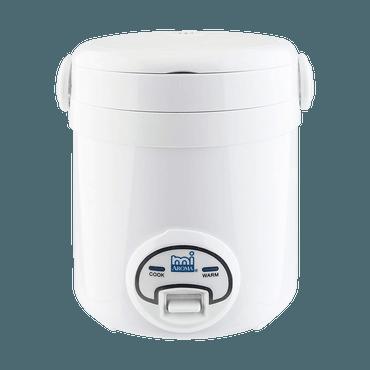 美国AROMA 方便一按迷你电饭煲 3杯熟米容量 MRC-903 / MRC-903BL 1-3人份 (1年制造商保修) 蓝/白随机发货